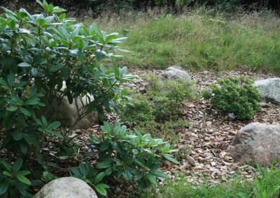 Haveanlæg Bødskov bed set fra øst