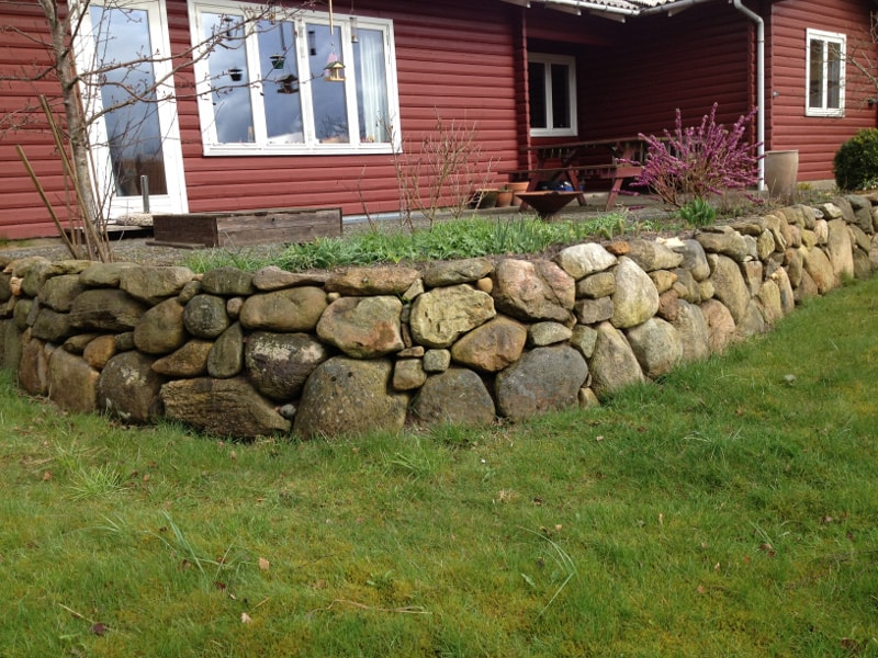 stensætning ved hus